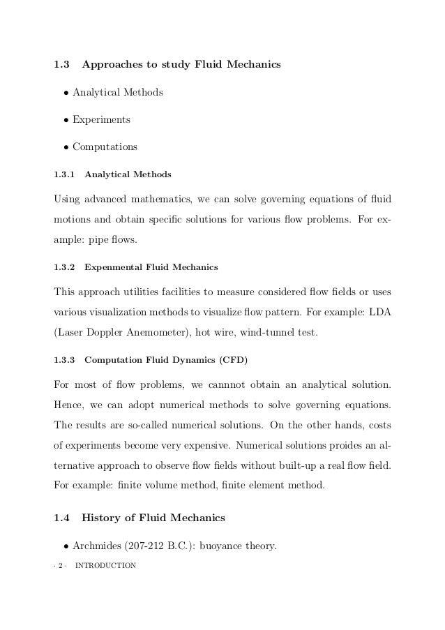 Fluid mechanics lectur notes