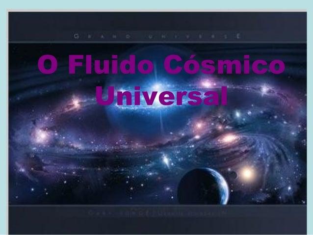 O Fluido Cósmico Universal