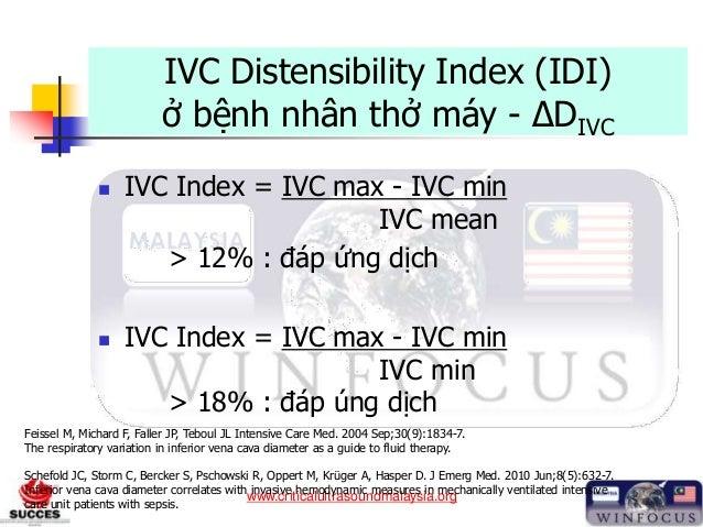 www.criticalultrasoundmalaysia.org IVC Distensibility Index (IDI) ở bệnh nhân thở máy - ΔDIVC  IVC Index = IVC max - IVC ...