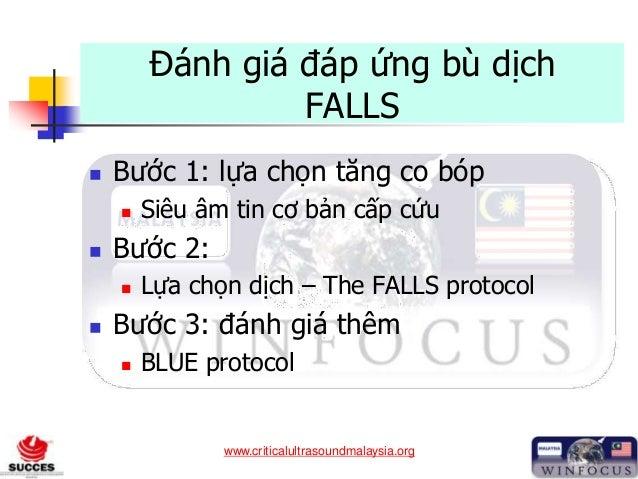www.criticalultrasoundmalaysia.org Đánh giá đáp ứng bù dịch FALLS  Bước 1: lựa chọn tăng co bóp  Siêu âm tin cơ bản cấp ...