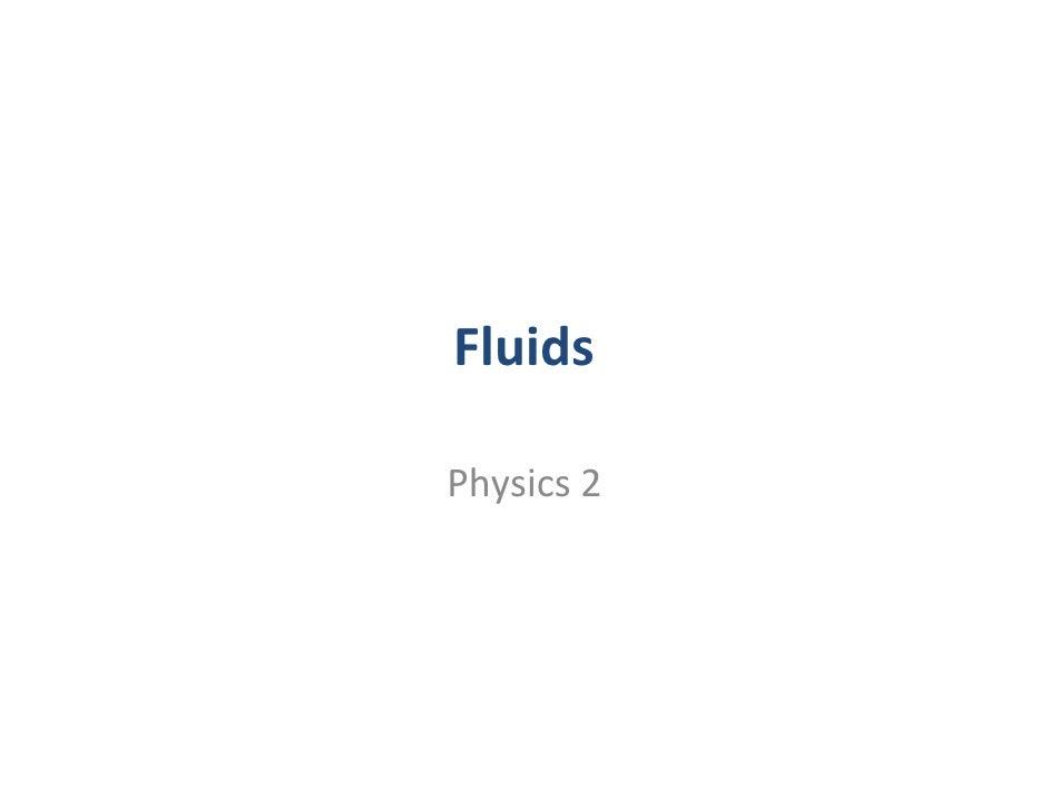 Fluids  Physics2
