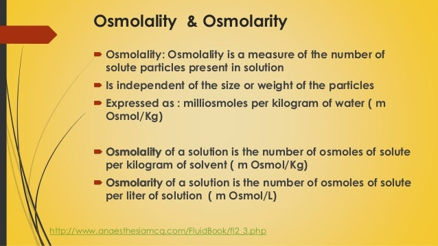 molarity vs molality measures concerning concentration