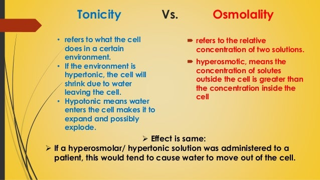 osmolarity practical 2 0286 mosm or 286 mosm 0154 m 2 093 osmolarity and tonicity are often used interchangeably by  (2) in this practical, with the use of easy-to-obtain red blood .