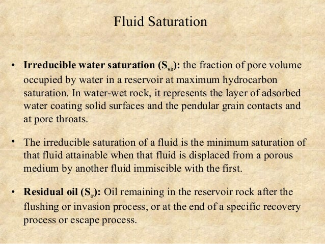 how to find connate water saturation