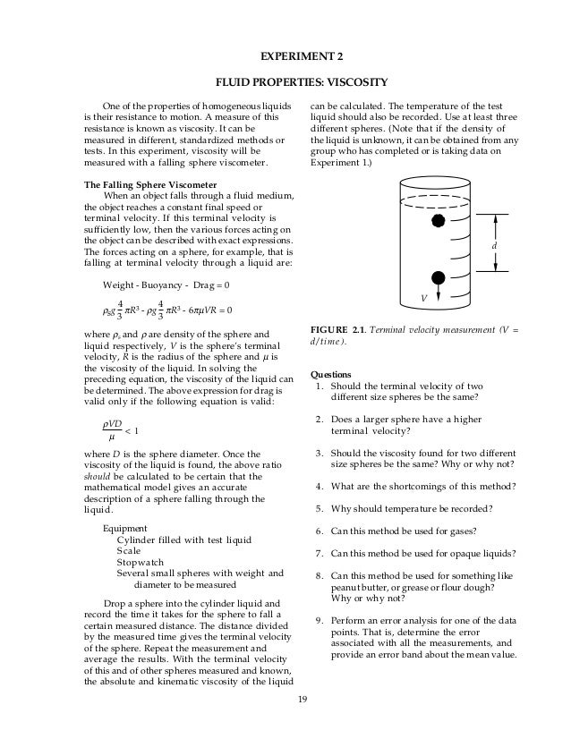 Stokes' Law, Reynolds Number, and Measuring Liquid Viscosity