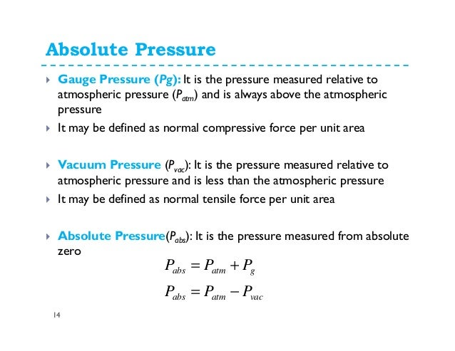 absolute pressure equation. absolute pressure equation w