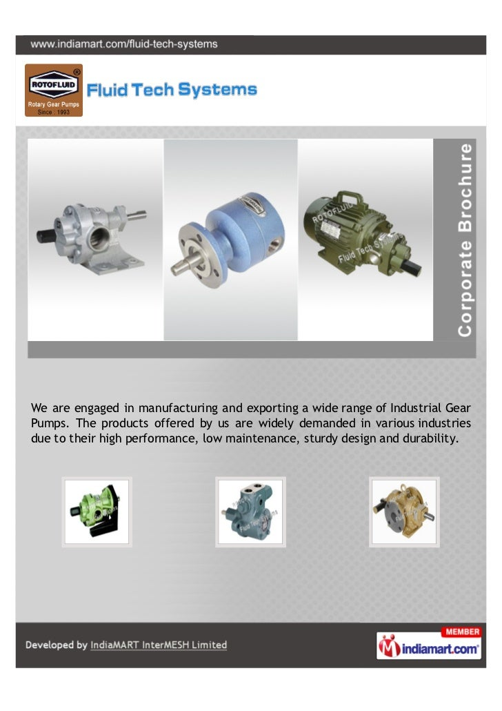 We are engaged in manufacturing and exporting a wide range of Industrial GearPumps. The products offered by us are widely ...
