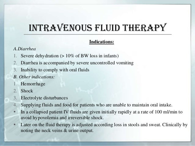 Fluid Therapy In Paediatrics