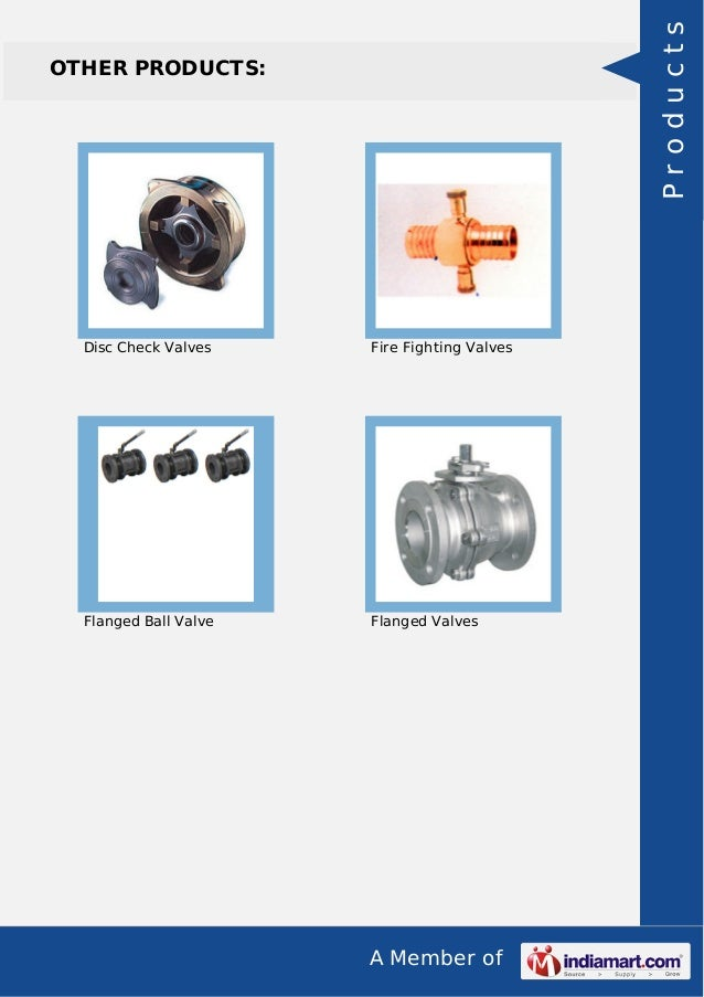 A Member of OTHER PRODUCTS: Disc Check Valves Fire Fighting Valves Flanged Ball Valve Flanged Valves Products