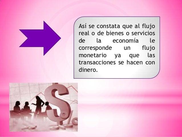 Así se constata que al flujo real o de bienes o servicios de la economía le corresponde un flujo monetario ya que las tran...
