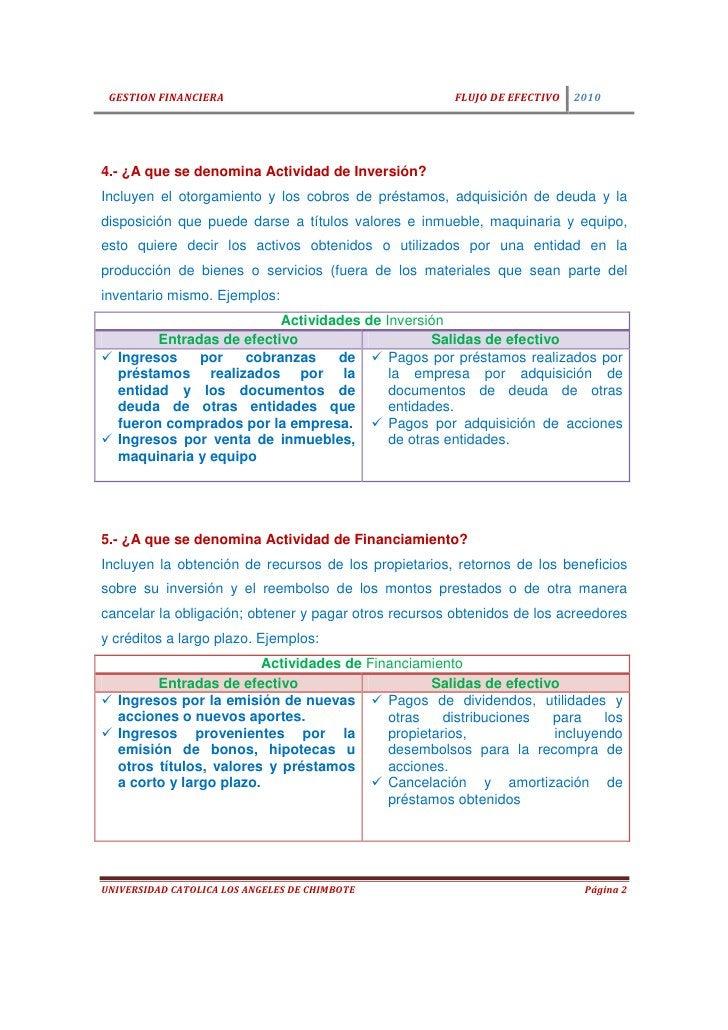 GESTION FINANCIERA                                    FLUJO DE EFECTIVO   20104.- ¿A que se denomina Actividad de Inversió...