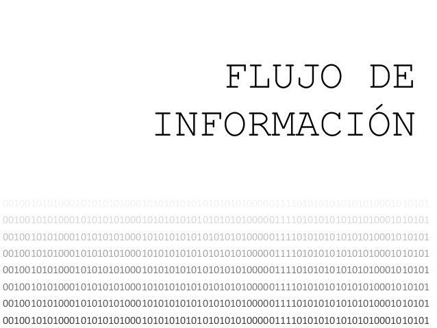 FLUJO DE INFORMACIÓN 00100101010001010101010001010101010101010101000001111010101010101010001010101 00100101010001010101010...