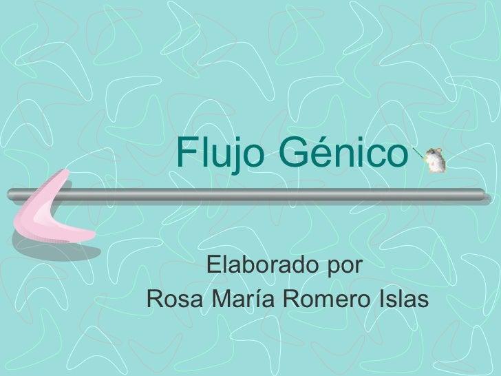 Flujo Génico Elaborado por  Rosa María Romero Islas