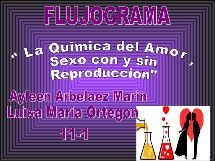 """FLUJOGRAMA Ayleen Arbelaez Marin Luisa Maria Ortegon 11-1 """"La Quimica del Amor, Sexo con y sin  Reproduccion"""""""