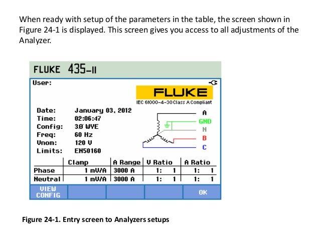 fluke 435 ii user training rh slideshare net fluke power analyzer 435 manual fluke 435 manual español