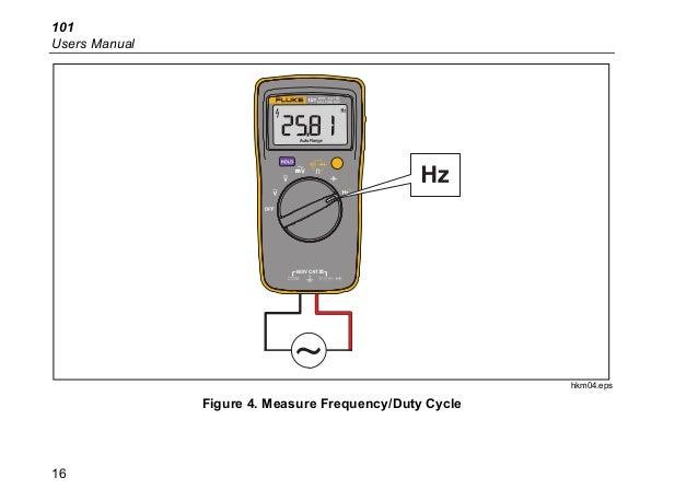 Fluke 101 Basic Digital Multimeter Pocket Portable Meter