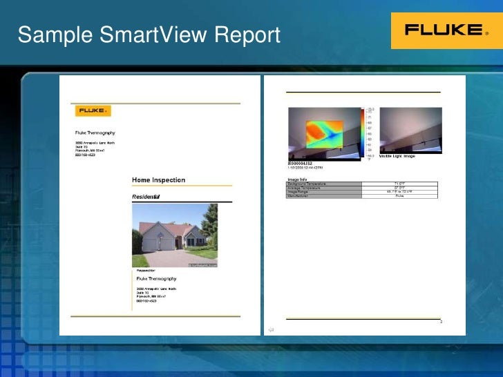 thermal imaging report template - fluke building diagnostics