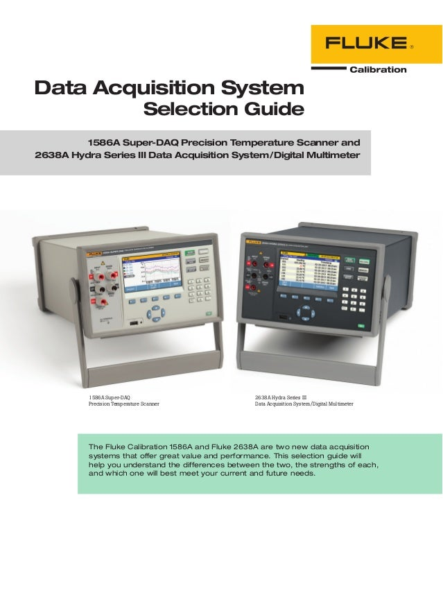 The Fluke Calibration 1586A and Fluke 2638A are two new data acquisition systems that offer great value and performance. T...