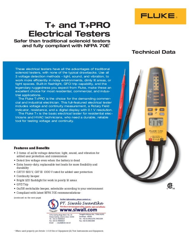 Technical Data These electrical testers have all the advantages of traditional solenoid testers, with none of the typical ...