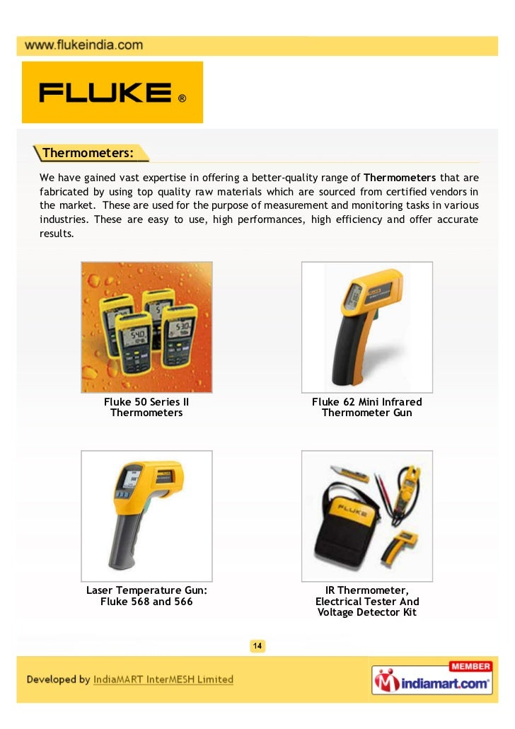 Fluke Industrial Private Limited, Mumbai, Electronic Test Tools