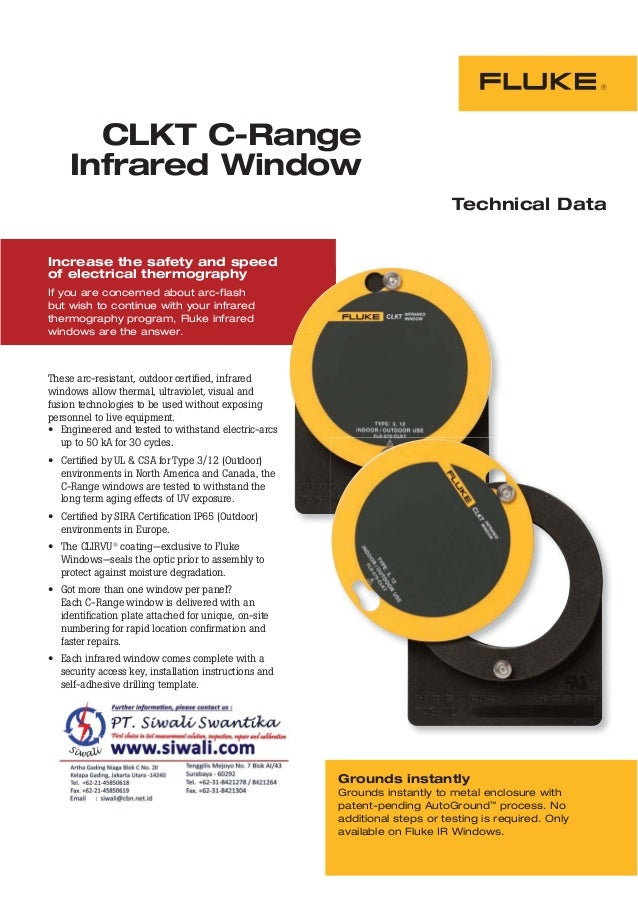 CLKT C-Range Infrared Window Technical Data Increase the safety and speed of electrical thermography If you are concerned ...