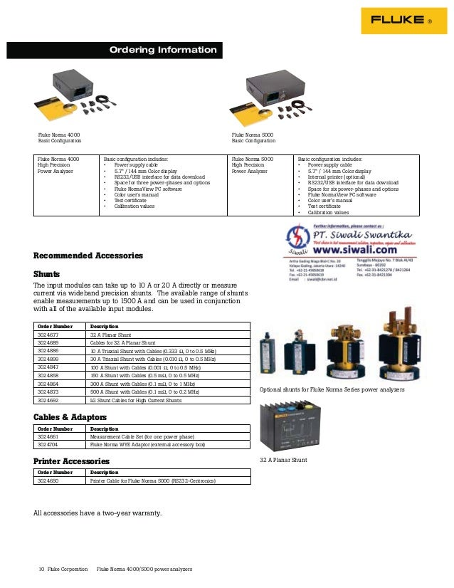 """10 Fluke Norma 4000 High Precision Power Analyzer Basic configuration includes: • Power supply cable • 5.7"""" / 144 mm Color ..."""