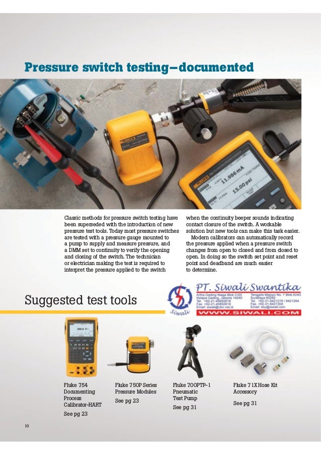 Fluke Catalog | Pressure Calibration Application and Solutions