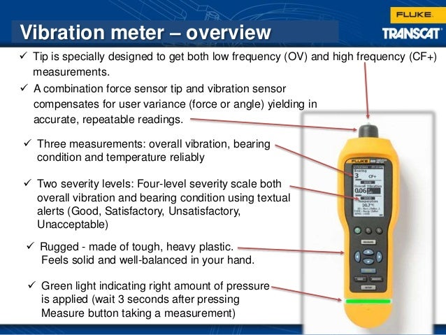 Ohmmeter Good Measurements And A High Low : Fluke vibration testing webinar