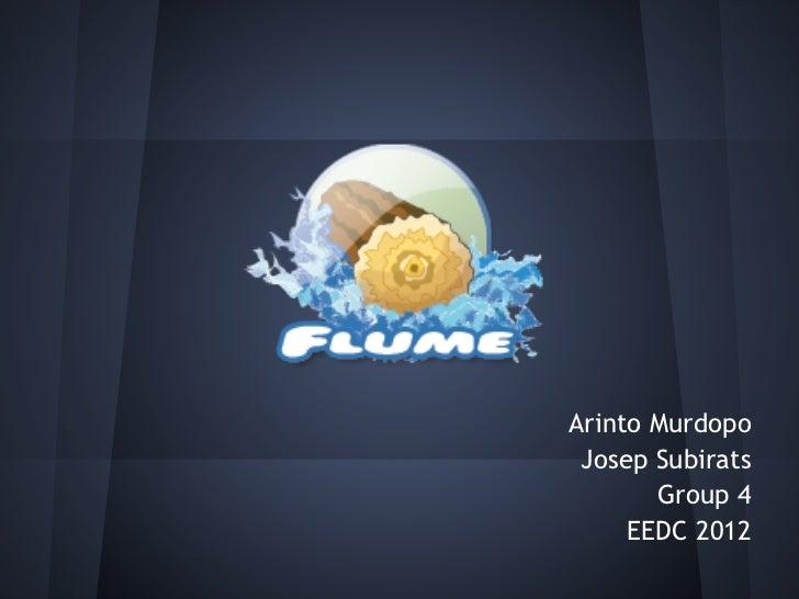 Arinto Murdopo Josep Subirats       Group 4     EEDC 2012