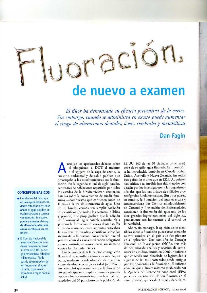 Fluoración. De nuevo a examen