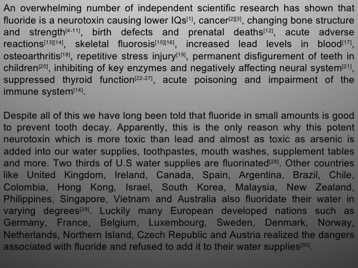Fluoridation, the scientific fraud of a century Slide 2