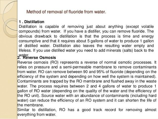 Drinking Distilled Water Problems ~ Fluoride problem in drinking water