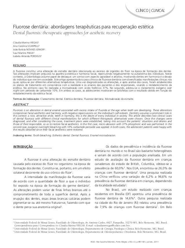 HIGIENE BUCAL E DIETA EM PRÉ-ESCOLARES RGO - Rev Gaúcha Odontol., Porto Alegre, v.59, n.3, p.497-501, jul./set., 2011 1 Un...