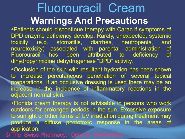 Fluorouracil Cream For Treatment Of Keratoses Amp Skin Lesions
