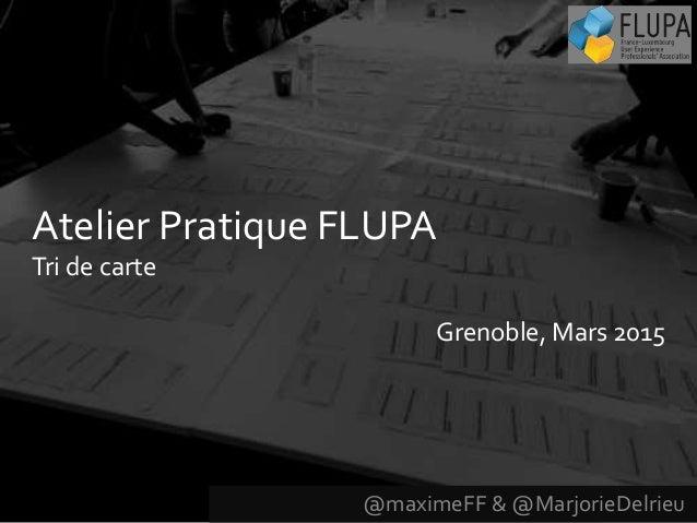 @maximeFF & @MarjorieDelrieu Atelier Pratique FLUPA Tri de carte Grenoble, Mars 2015