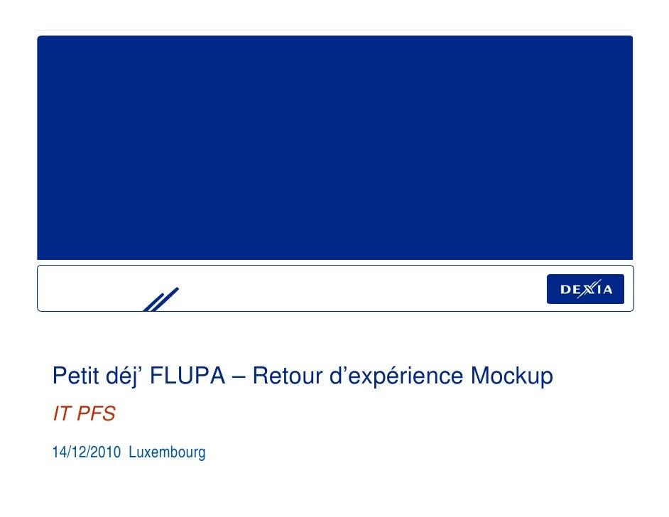 Balsamiq Mockups : Retour d'expérience Dexia BIL