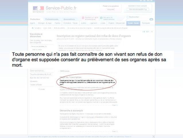 • Registre national des donneurs d'organe  « Grey patterns » ?  Ce document est la propriété d'Akiani et il ne peut être  ...