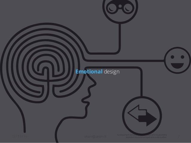 Emotional design  18/11/14 akiani@akiani.fr  Ce document est la propriété d'Akiani et il ne peut être  reproduit ou commun...