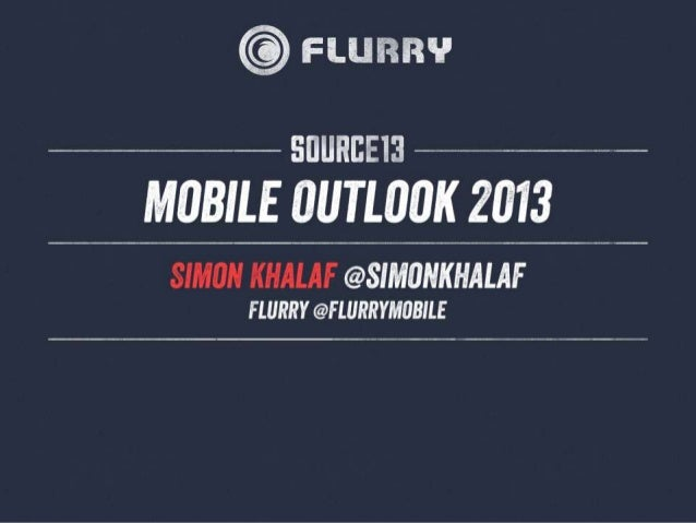 Unstoppable Market GrowthWorldwide in-application events measured by Flurry (billions)1,2001,1001,000 900 800 700 600 500 ...