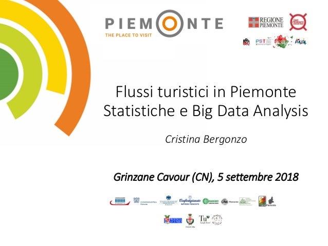 Flussi turistici in Piemonte Statistiche e Big Data Analysis Cristina Bergonzo Grinzane Cavour (CN), 5 settembre 2018