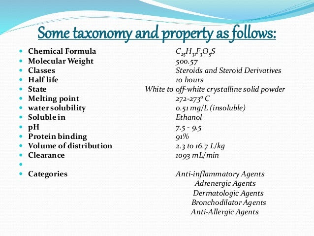 nasal steroid potency chart
