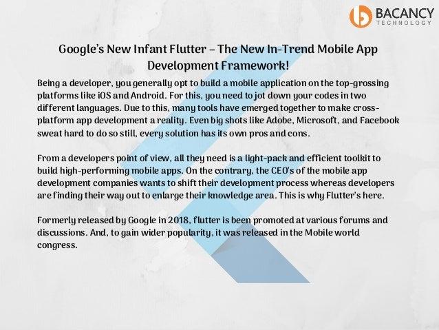 Flutter the new trend of mobile app development framework!