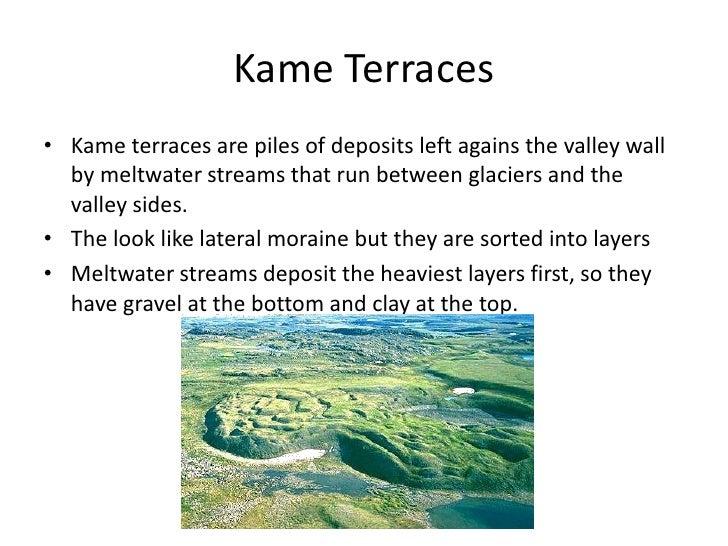 Fluvioglacial processes and landforms for Terrace landform