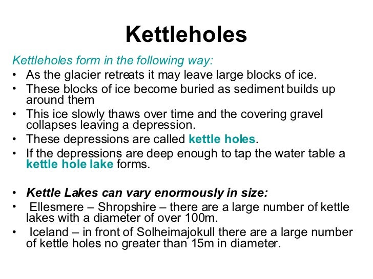 How kettle holes form — photo 2
