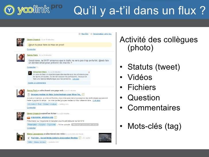 """Flux d'activité : l'objet du scandale - """"Adoption et Réseaux Sociaux d'Entreprise"""" - Yoolink Slide 3"""