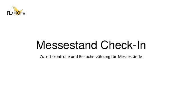Messestand Check-In Zutrittskontrolle und Besucherzählung für Messestände