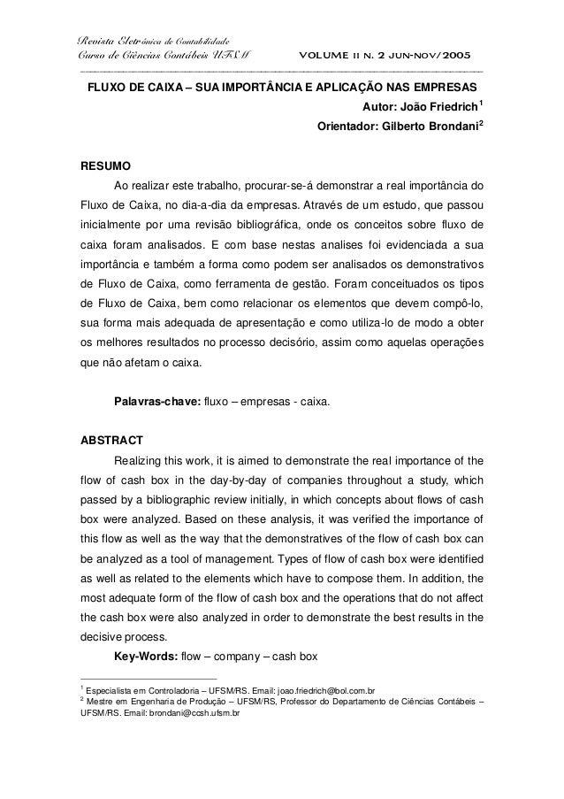 Revista Eletrônica de Contabilidade Curso de Ciências Contábeis UFSM VOLUME ii n. 2 jun-nov/2005 _________________________...