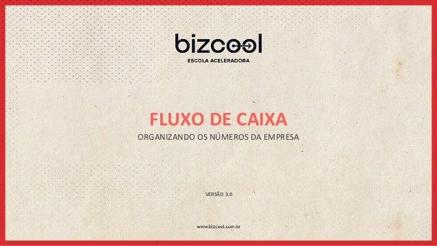 FLUXO  DE  CAIXA   ORGANIZANDO  OS  NÚMEROS  DA  EMPRESA   VERSÃO  3.0