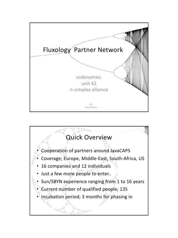 2010-03-12    Fluxology Partner Network                    codenames:                      unit 42                 n-simpl...