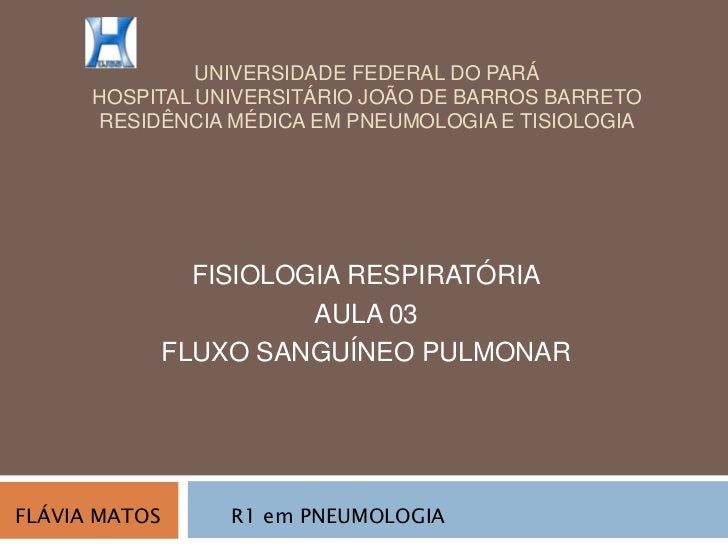 Fluxo sanguineo pulmonar